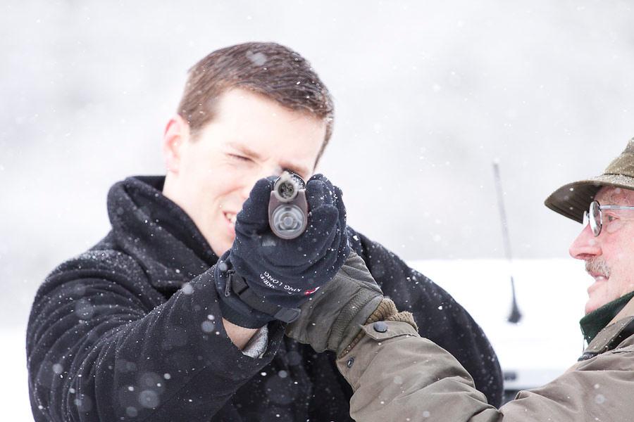 Shooting at winter wedding at Middleton House