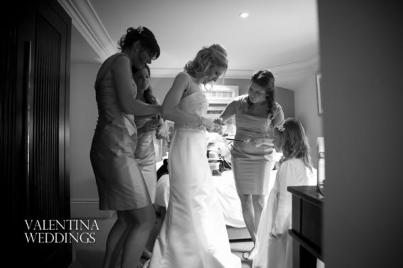 Wedding photography at Wood Hall Hotel and Spa. Photography by Valentina Weddings