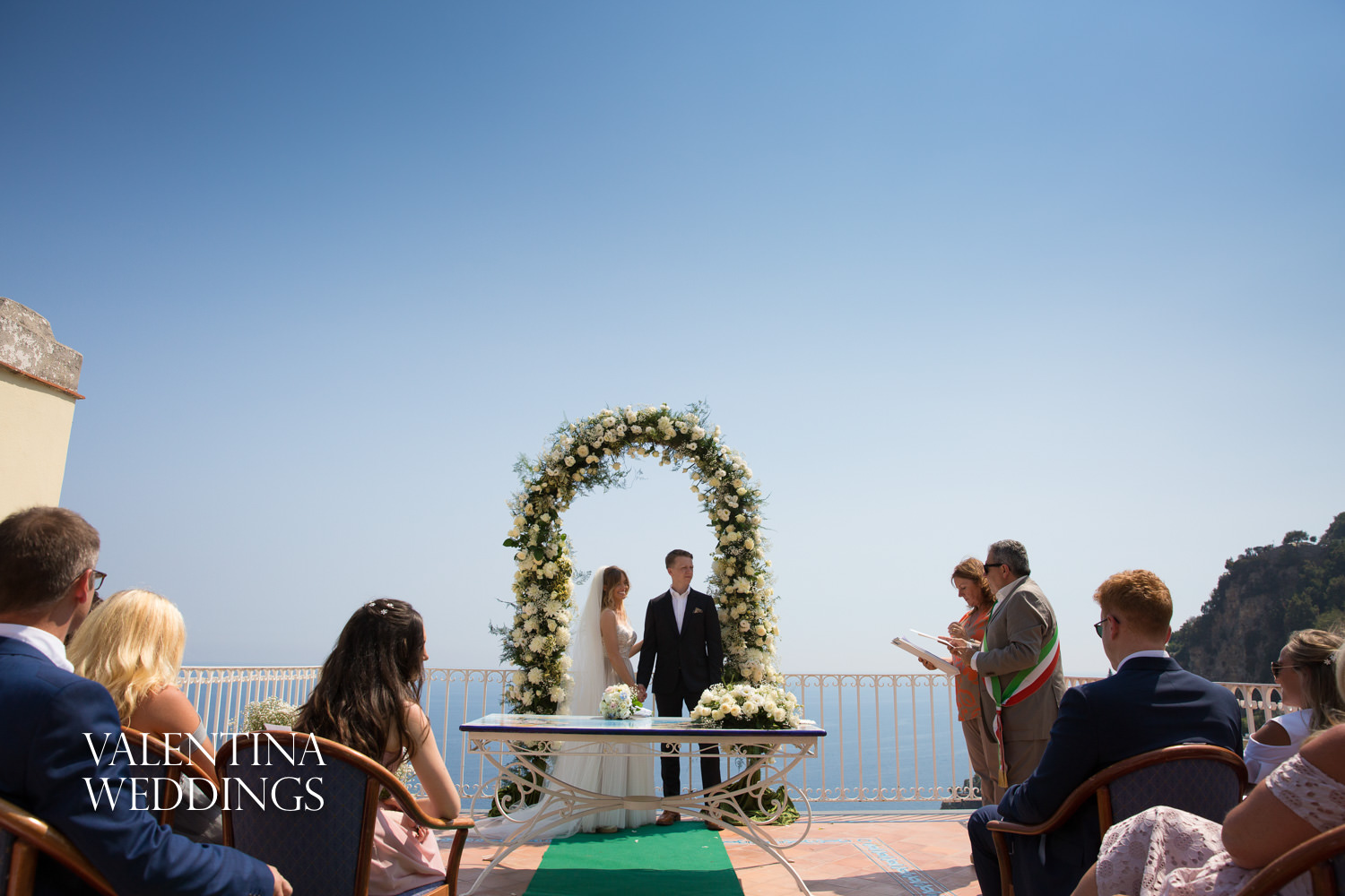 Wedding at Positano Town hall