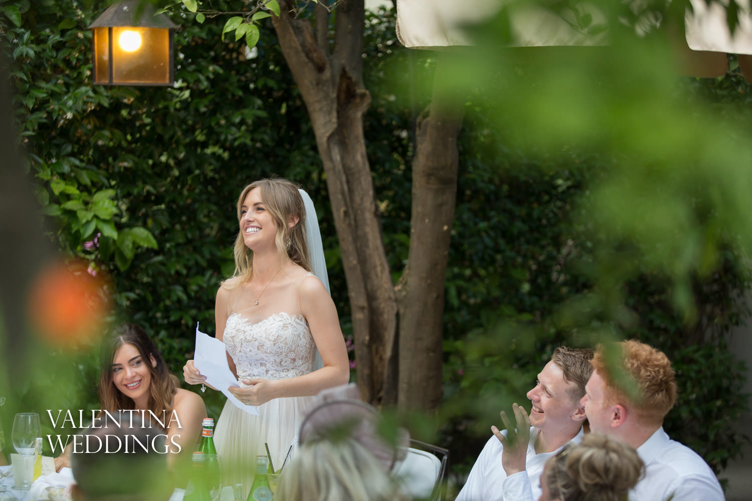 Wedding speeches in Palazzo Murat